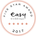 easy weddings five star rated